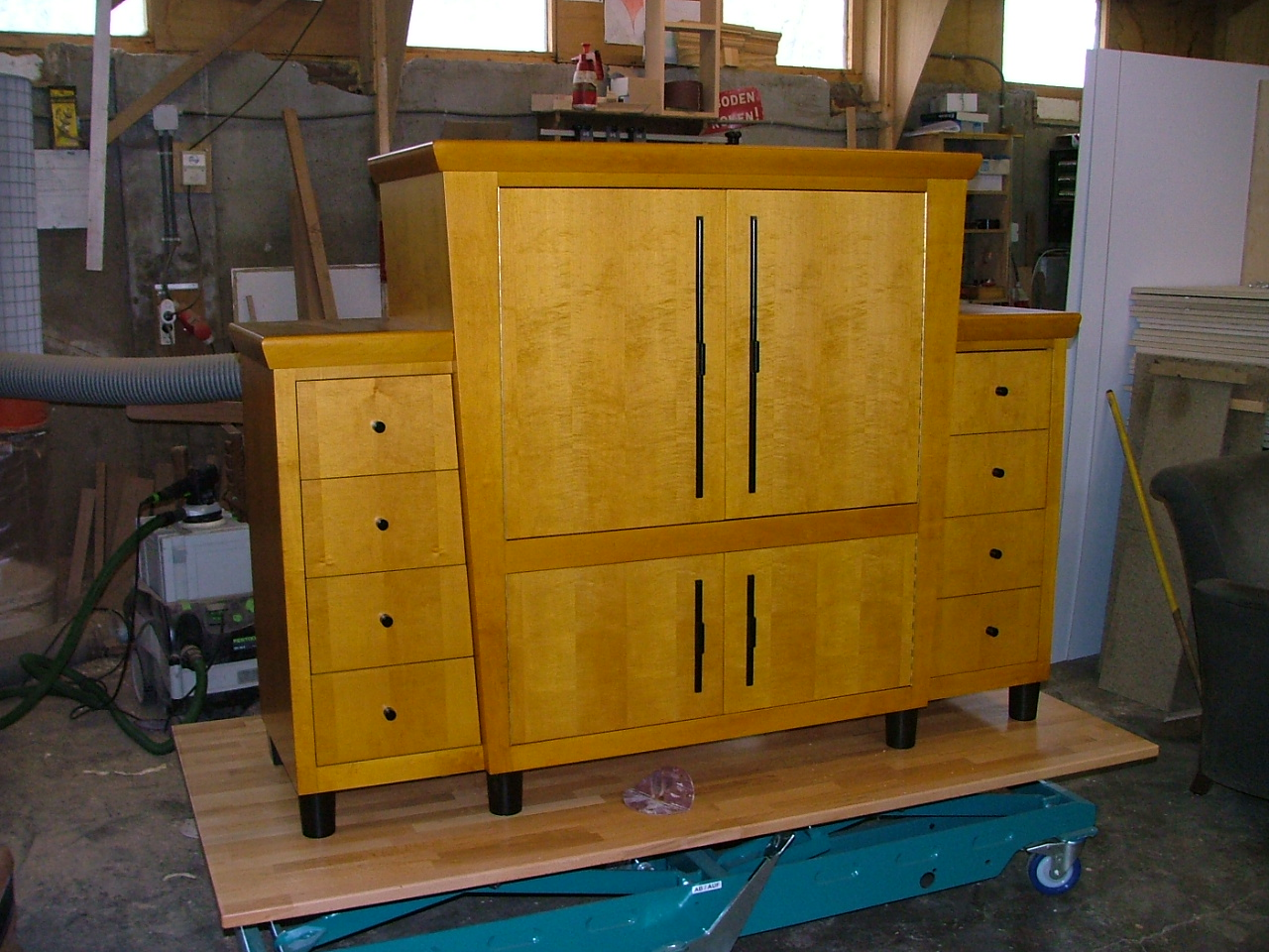 Art deco esdoorn maple tv meubel